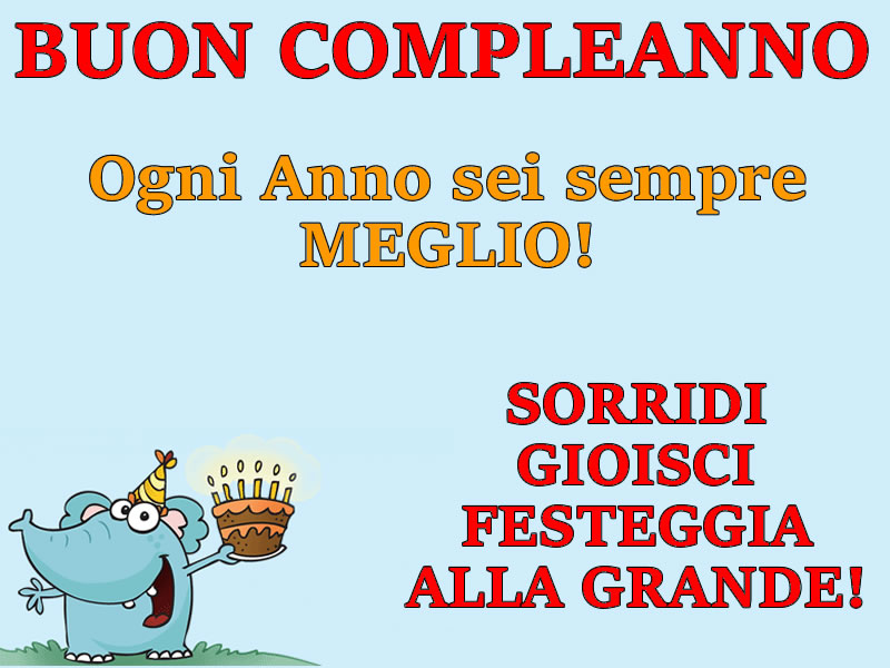 Frase auguri Compleanno